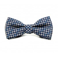 Blue Multi Square Bow Tie