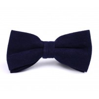 Dark Blue Corduroy Bow Tie