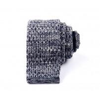 Dark Blue & White Diamond Knitted Tie