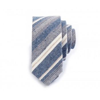 Striped Jacquard Linen Tie
