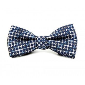 Blue Multi Square Bow Tie