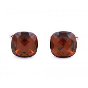 Amber Swarovski Crystal Cufflinks from Italy