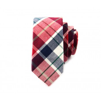Black & Red Plaid Tie