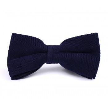 Dark Blue Corduroy Bow Tie