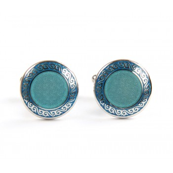 Green Lake Round Cufflinks