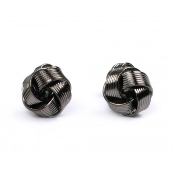 Grey Knot Metal Cufflinks