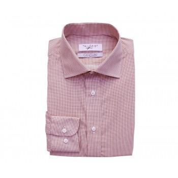 Canclini Printed Burgundy Square Shirt