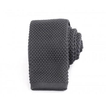 Slim Knitted Grey Tie