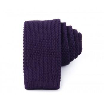 Slim Knitted Purple Tie