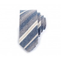 Striped Jacquard Linen Tie