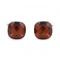 Amber Swarovski Crystal Cufflinks from Italy
