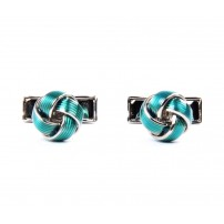 Blue Knot Metal Cufflinks