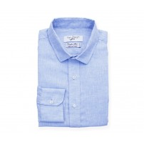 Albini Light Blue Linen Shirt