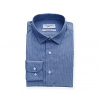 Canclini Blue Mini Houndstooth Shirt