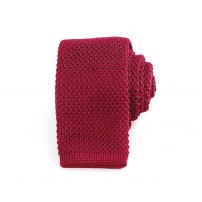 Slim Knitted Red Tie