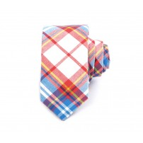 Summer Plaid Cotton Tie