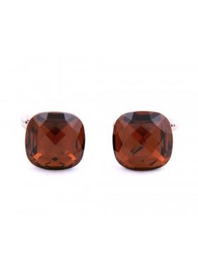 Amber Swarovski Crystal Cufflinks