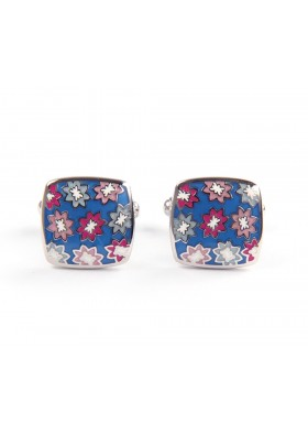 Blue Flower Cufflinks