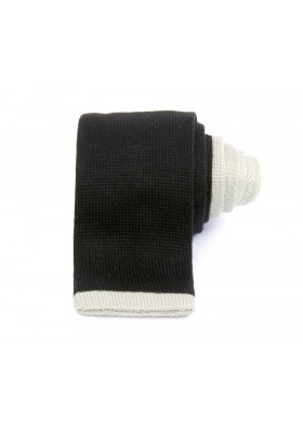 Navy & Light Grey Knitted Tie