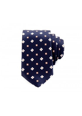 Navy Retro Print Tie
