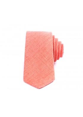 Orange Linen Tie