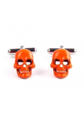 Orange Skull Cufflinks