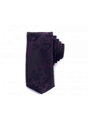 Purple Jacquard Flower Tie