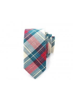 Red & Green Plaid Tie