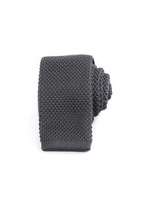 Slim Knitted Grey Tie