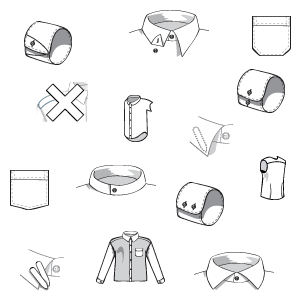 Shirt designer icons