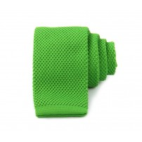 Slim Knitted Green Tie