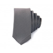 Svartvit slips i hundtandsmönster