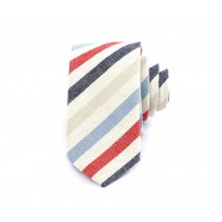 Flerfärgad randig slips