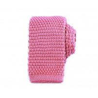 Smal rosa stickad slips