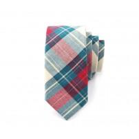 Rutmönstrad grön och röd slips