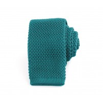 Slim Knitted Turquoise Peacock Tie