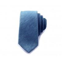 Blå slips i jeans/denim
