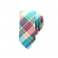 Rutmönstrad flerfärgad slips