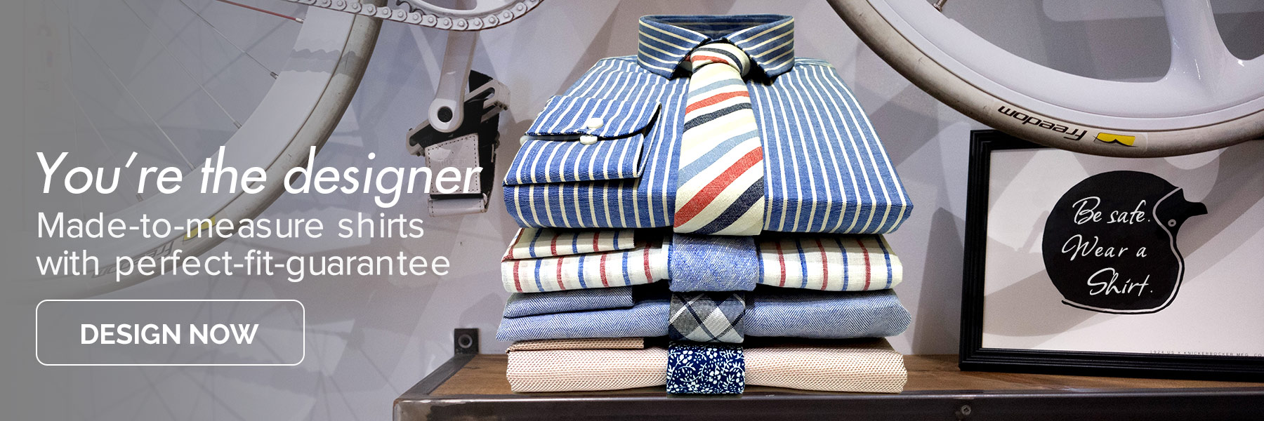 You're the designer - design your own custom dress shirt online